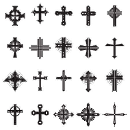 Collection of crosses design Çizim