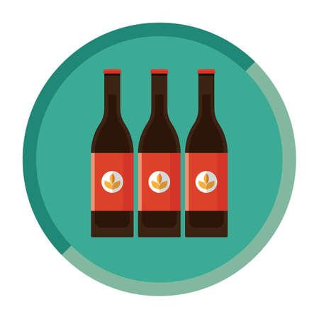 bottles of beer Ilustração