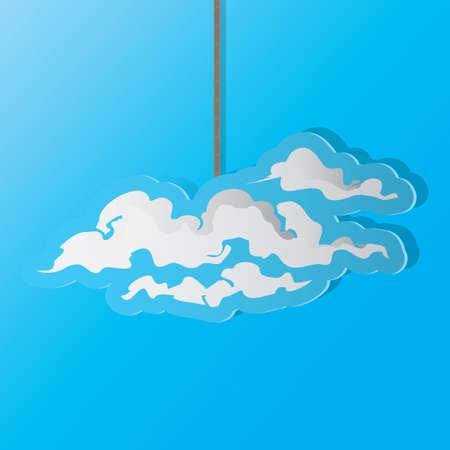 Una ilustración de la nube. Foto de archivo - 81470389