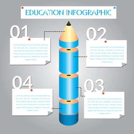 Education infographic Иллюстрация