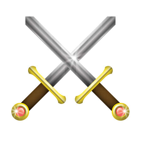 two crossed swords Standard-Bild - 106670491