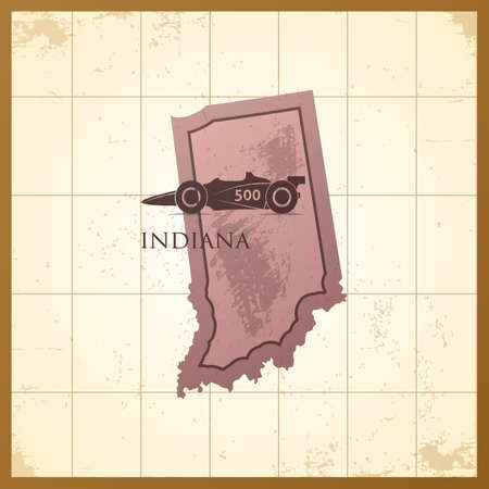 map of indiana state Stock Vector - 106670492