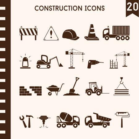 collection d & # 39; icônes de construction