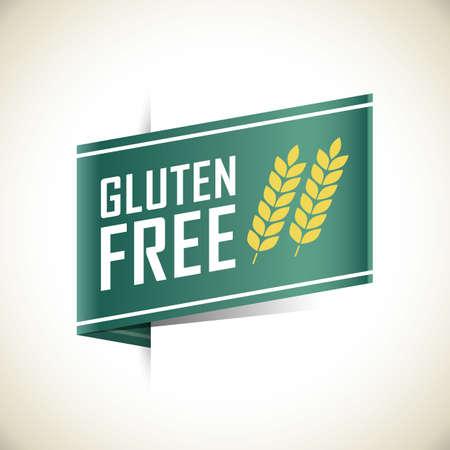 gluten free label Archivio Fotografico - 106670505