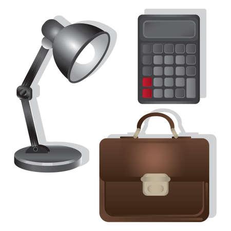 set of office icons Illustration