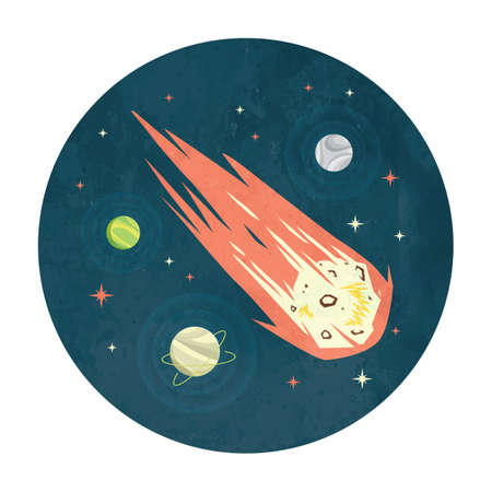 Meteorito en el espacio