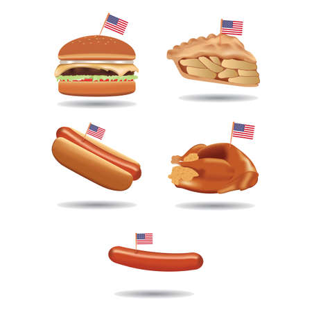 food with american flags