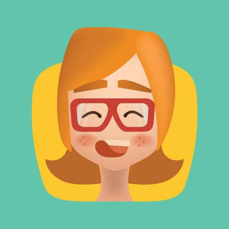 Girl blushing Иллюстрация