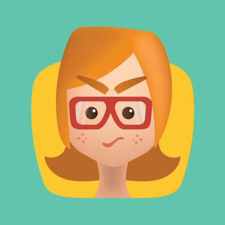Chica, sentimiento, celoso Ilustración de vector