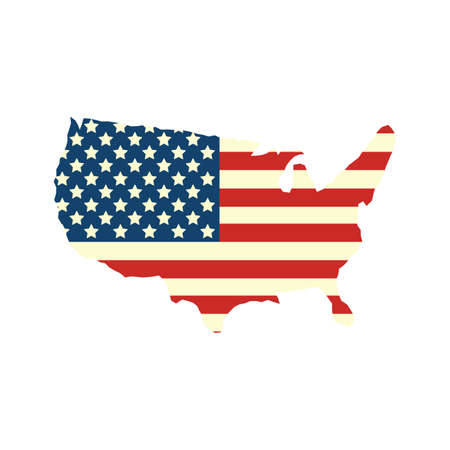 미국지도 일러스트