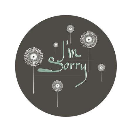 word i am sorry