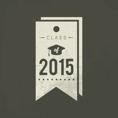 Een klasse van 2015 tag illustratie.