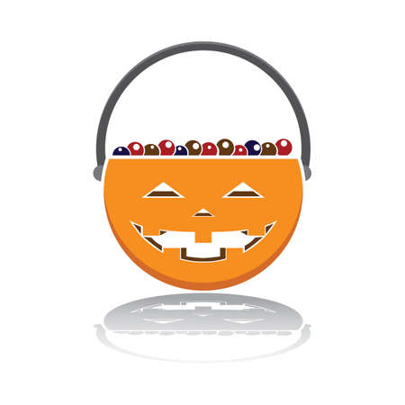 trick or treat basket with candies