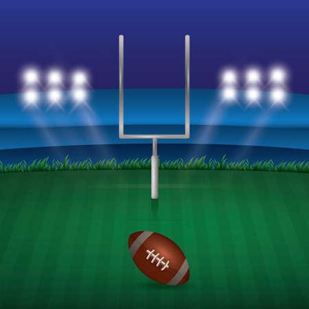 Amerikaanse voetbal veld illustratie.