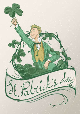 happy st. patrick's day wallpaper 免版税图像 - 106670536