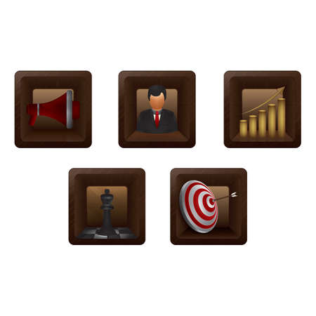 marketing icons Иллюстрация