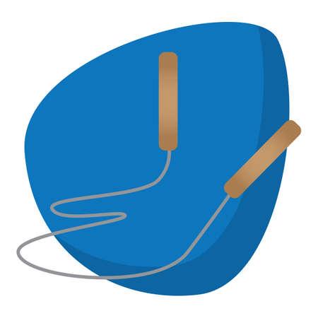 A skipping rope illustration. Illustration