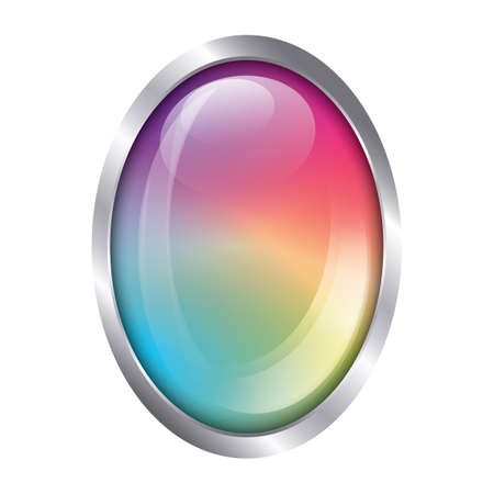 rainbow button 版權商用圖片 - 81486467