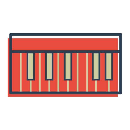 musical keyboard Illustration