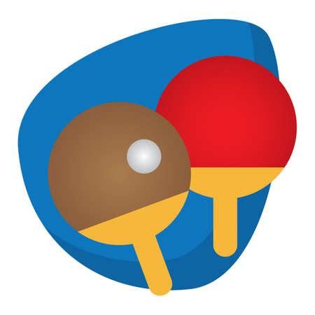 ボール卓球パドル