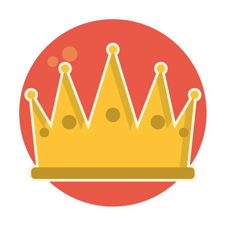 Kroon pictogram Stock Illustratie