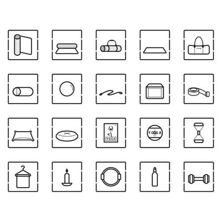 assorted exercise icon set