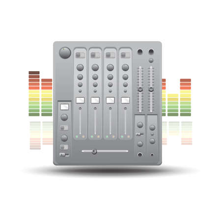 mixer console: mixer console Illustration