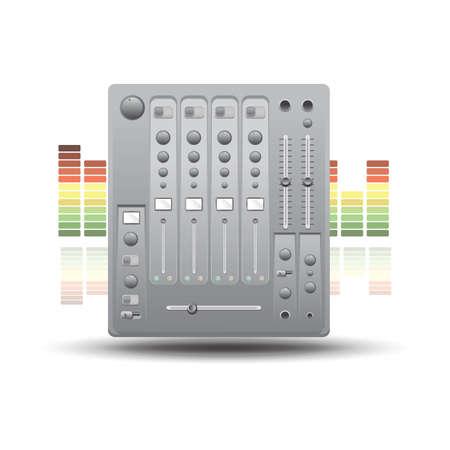 mixer console 向量圖像