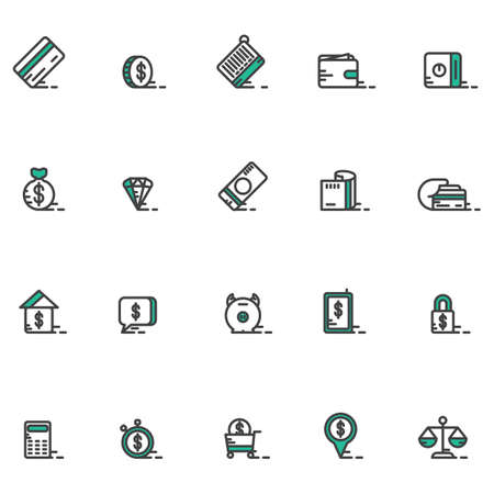house exchange: A money icons illustration.