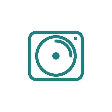 DJ scratch disc jog wheel icon Ilustração