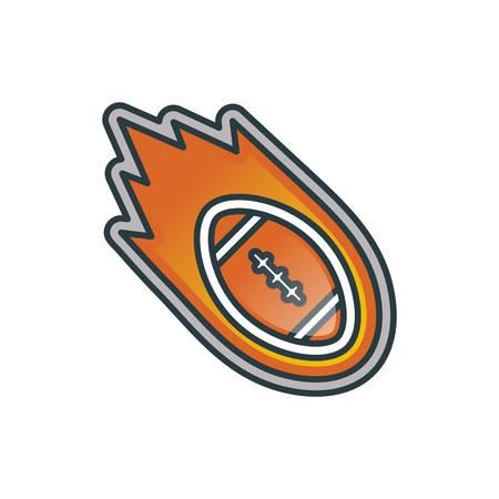 Etichetta di calcio americano Archivio Fotografico - 81470457