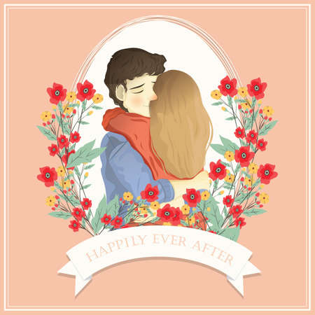 happily ever after card Ilustrace