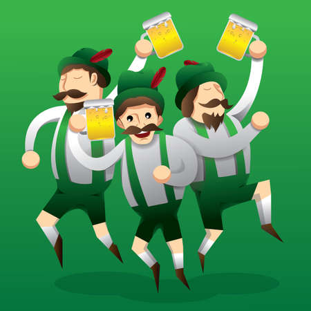 men holding beer mugs