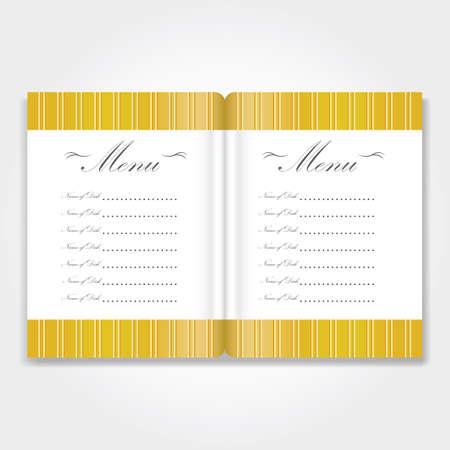 A menu card illustration. Ilustração