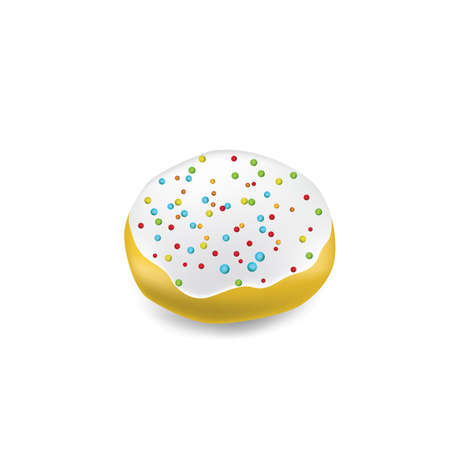donut with colorful sprinkles Banco de Imagens - 81486458