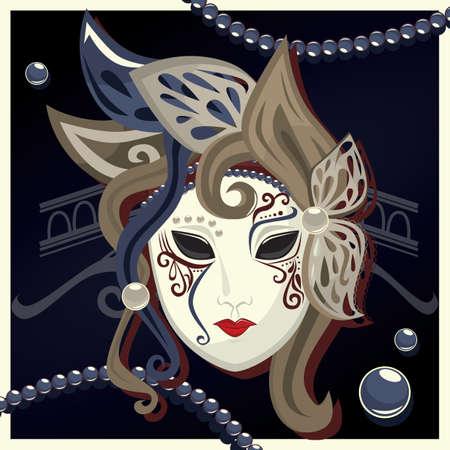 máscara de carnaval Ilustración de vector