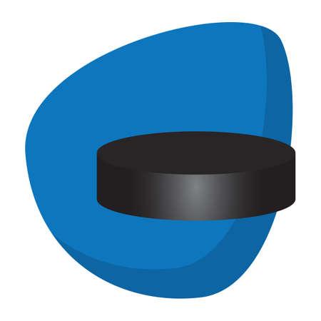 Ice hockey puck illustration.