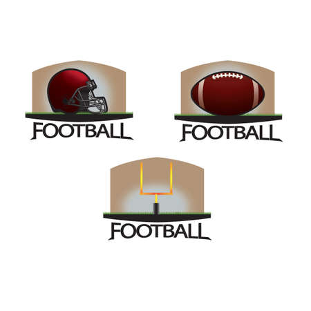 american football equipments Illustration
