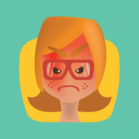 Enraged girl Illustration