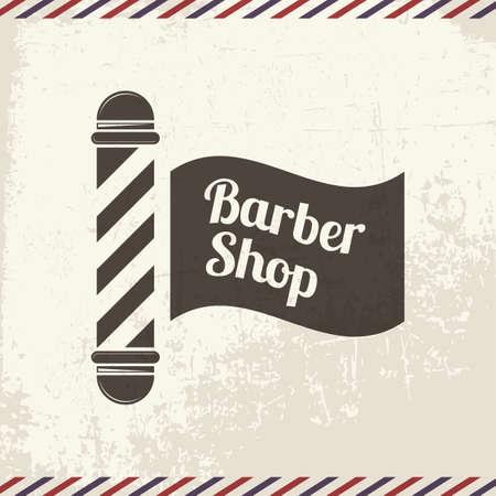 poste de tipografía de barbería