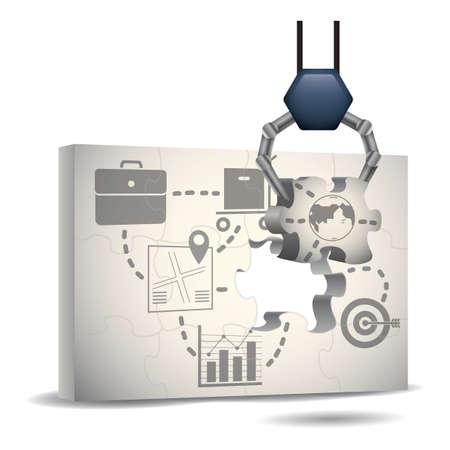 marketing puzzle 向量圖像