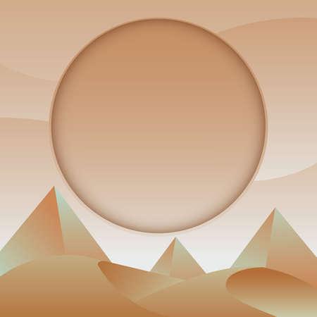 A pyramids illustration. Ilustração