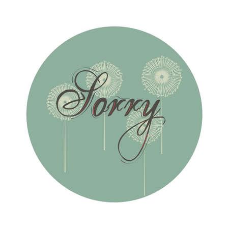 word sorry Ilustrace