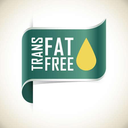 trans fat free label  イラスト・ベクター素材