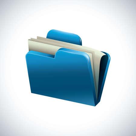 ファイル内のドキュメント  イラスト・ベクター素材