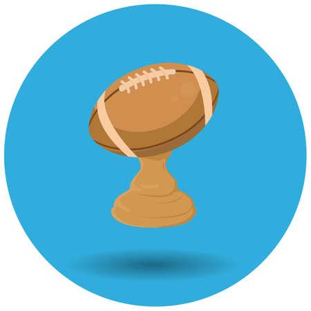 american football trophy Illustration