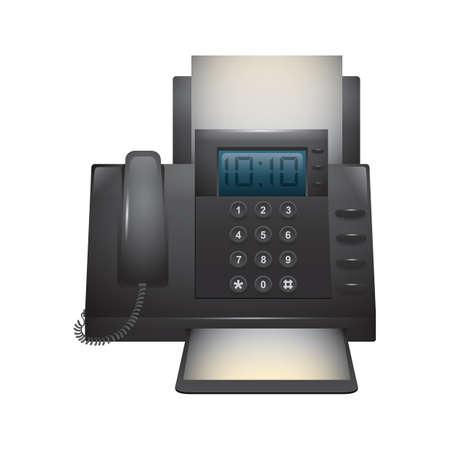 ファックス機  イラスト・ベクター素材