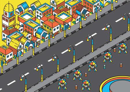 住宅地の等尺性