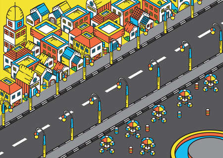 Isometric of a housing area