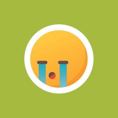 Emoticon huilt Stock Illustratie